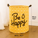Foldable Laundry Basket Super Large Kids Toy Storage Basket Cotton Washing Dirty Clothes Big Basket Organizer Bin Handle - HeyHouse