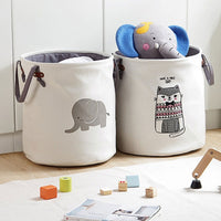 Foldable Laundry Basket for Dirty Clothes White Gray Canvas Toys baskets bag Organizer kids Home Storage washing Organization - HeyHouse