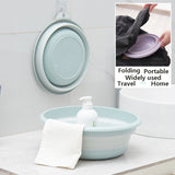 Folding Picnic Basin Trip Bucket Kitchen Organizer Travel Washbasin RV Basin Portable Water Bowl Fruit Tray Home Washtub - HeyHouseCart
