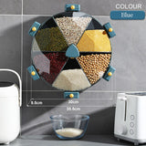 Food Grains Storage Grids Box Wall-mounted Rotate Storage Jar