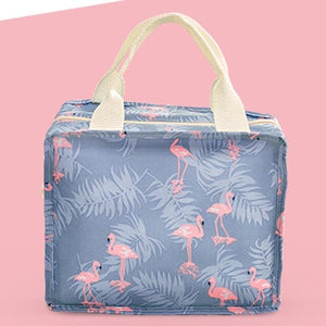 Functional Pattern Cooler Lunch Box Portable Insulated Canvas Lunch Bag Thermal Food Picnic Lunch Bags For Women Kids - HeyHouse