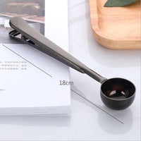 2PCS Stainless Steel Coffee Scoop With Seal Clip