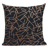 Geometric Black Blue Cushion Cove Textile Hill Gold Dero Throw Pillows Covers 45Cmx45Cm Square Sofa Bed 3D Throw Pillow Cover/ Throw Pillow - HeyHouse