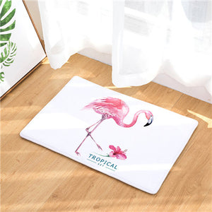 New Flamingo Print Carpets Non-slip Kitchen Rugs for Home Living Room Floor Mats 40x60cm - HeyHouse
