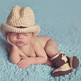 Newborn Photography Props Clothes Photo Shoot For Baby Boys Infant Hat Shoes Crochet Knitted Clothing Accessories Costume Outfit - HeyHouseCart
