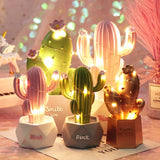 LED Creative Resin Home Decoration Cactus Shaped Night Light for Kids Birthday - HeyHouse