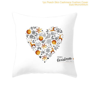 Christmas Cushion Cover Cushions Home Decor Sofa Decorative Cushions Pillowcase/ Throw Pillow Christmas Pillow Cover Throw Pillow Covers/ Throw Pillow - HeyHouse