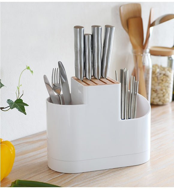 Home Draining Storage Holders Tray Dish Fork Spoon Organizer Chopsticks Knife Drying Rack Case Accessories Supplies - HeyHouseCart