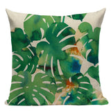 Rainforest Style Plant Pillowcases/ Throw Pillow - HeyHouse
