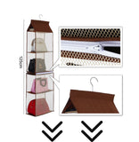 4 Pocket Separable Hanging Handbag Storage Organizer Hanging Sundry Shoe Storage Bag for Wardrobe Closet Home Supplies - HeyHouse