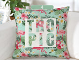 Tropic Summer Time Jungle Flamingo Cushion Cover Throw Pillow Cover/ Throw Pillow - HeyHouse