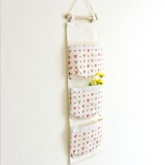 Pattern Wall Hanging Storage Bag Organizer With Pockets Home Storage Kitchen Organizer Home Storage Organization - HeyHouse