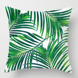 Tropical Decoration Print Cactus Monstera Cushion Cover / Throw Pillow Polyester Green Throw Pillow for Sofa/Home Decorative Pillowcase/ Throw Pillow - HeyHouse