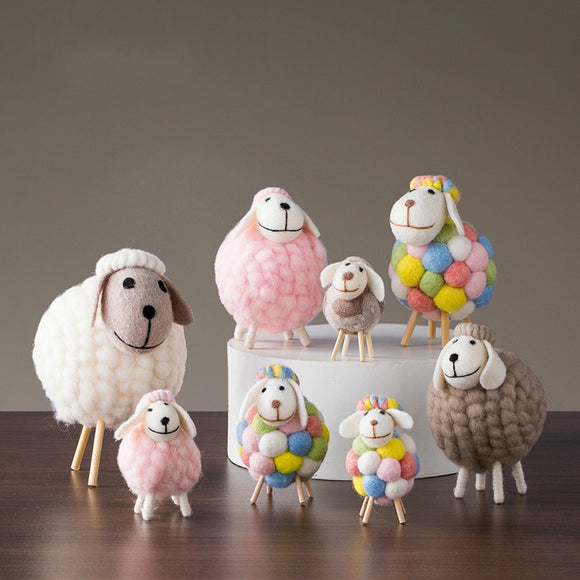 Handmade Wool Sheep Needle Felted Sheep for Home Decoration - HeyHouse
