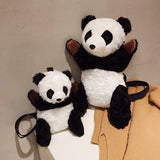 Creative Panda Design Hand Plush Backpack Shoulder Bag - HeyHouse