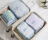 Household Portable Box Waterproof Clothes Organizer Storage Box Underwear Bra Packing Makeup Cosmetic Cloth Storage Bag 6pcs/set - HeyHouse