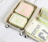 Household Portable Box Waterproof Clothes Organizer Storage Box Underwear Bra Packing Makeup Cosmetic Cloth Storage Bag 6pcs/set - HeyHouseCart