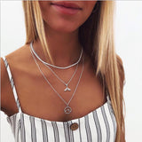 Vintage Multilayer Crystal Pendant Necklace - HeyHouse
