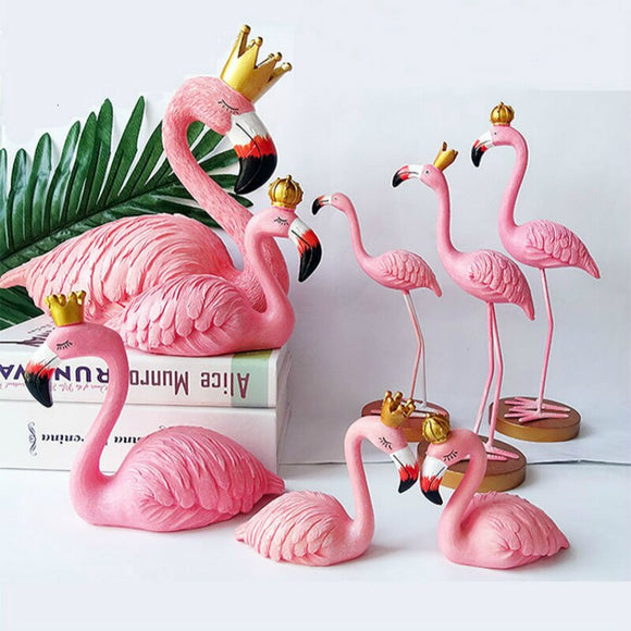 Pink Flamingo Resin Model for Home Decoration Birthday Gifts