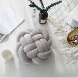 INS Nordic Cushion Innovative Handmade Knotted Pillows Flower Knotted Toys For Kids Knot Ball Car Cushions Home Decoration - HeyHouse
