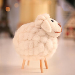 Cute Sheep Needle Felted Animal Figurines - HeyHouse