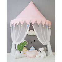 Kids Teepee Canopy Foldable Crib Tent for Baby Room Decor - HeyHouse
