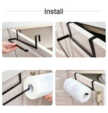 Kitchen Roll Paper Towel Holder Storage Rack Sundries Organizer Home Hook Type Storage Tools Cabinet Cupboard Tissue Shelves - HeyHouse