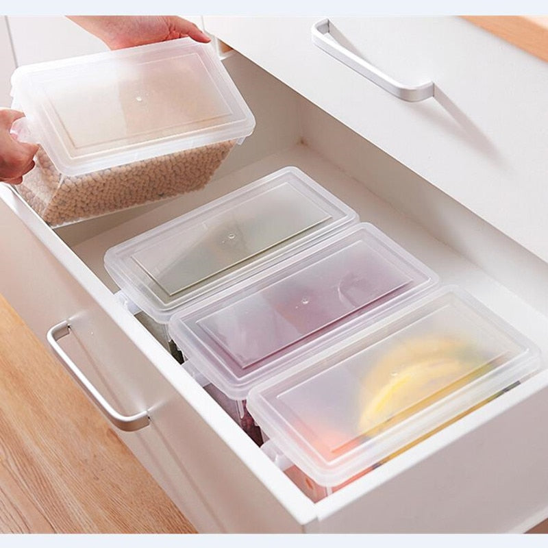 Kitchen Transparent PP Food Storage Box Grains Beans Storage Containers Sealed