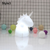 LED Resin Cartoon Unicorn Night Light - HeyHouse
