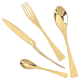 Rose Gold Dinnerware Set 18/10 Stainless Steel Cutlery Set Dinner Forks Knives Scoops Set Silverware Set For Gift - HeyHouse