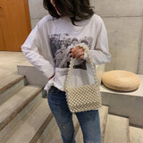 Luxury Pearl Pearls Bag Beading Bags for Women Top-handle Women Handbags Acrylic Box Totes Brands Evening Party Bags Design - HeyHouseCart