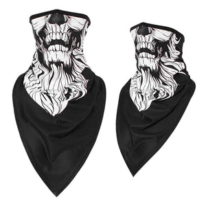 2Pcs Men Girl Breathable Sport Red Skull Bandana Scary Face Ski Triangle Scarf Fishing Hiking Running Neck Gaiter Cover Headband Thin - HeyHouse