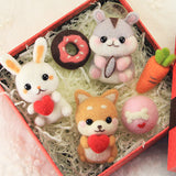 Non-Finished Felt Material DIY Package,Animal Gift Set Poked For Car Pendant/Ornaments - HeyHouse