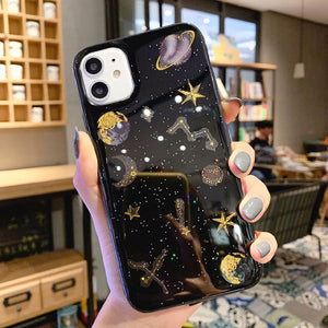 Bling Glitter Star Moon Universe Phone Case For iphone