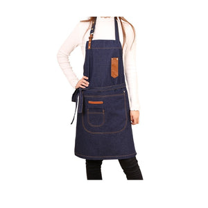 New Hot Fashion Lady Women Men Adjustable Cotton Linen High-grade denim Kitchen Apron For Cooking Baking Restaurant pinafore - HeyHouse