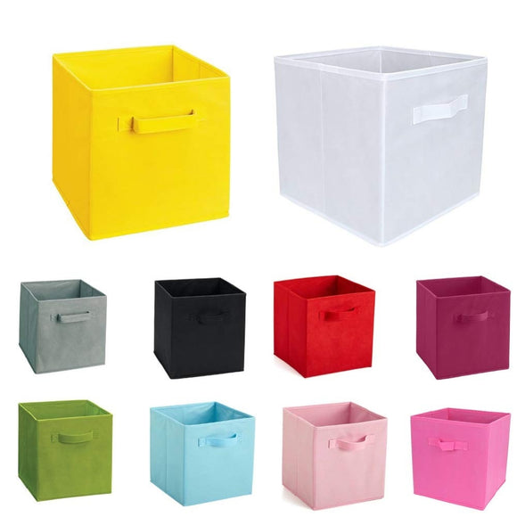 New Non-Woven Fabric Folding Cabinet storage box toys organizer clothes storage bin for Underwear Bra Socks with handle chest - HeyHouse