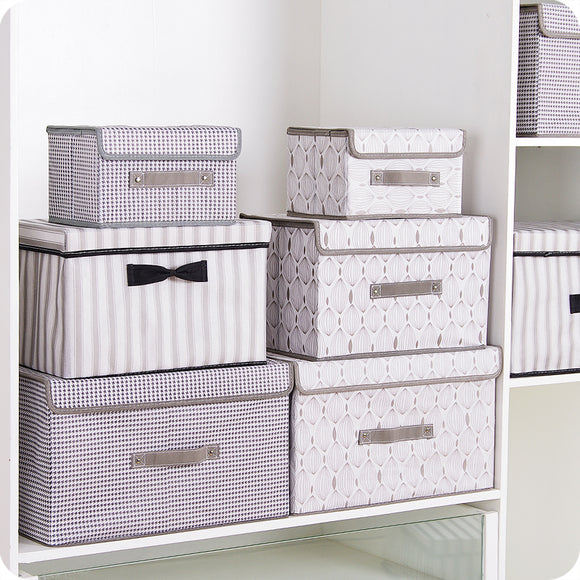 New folding Non-woven fabric storage box Home supplies clothing Underwear socks and kids toys storage organizer Cosmetics bins - HeyHouse