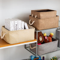 New folding Storage Baskets Portable Laundry kids toys organizer Clothes and sundries storage box Cabinet storage bag - HeyHouseCart