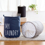 New folding storage basket with lid Dirty clothes Storage barrel large laundry basket kid toy organizer bag sundries storage box - HeyHouse