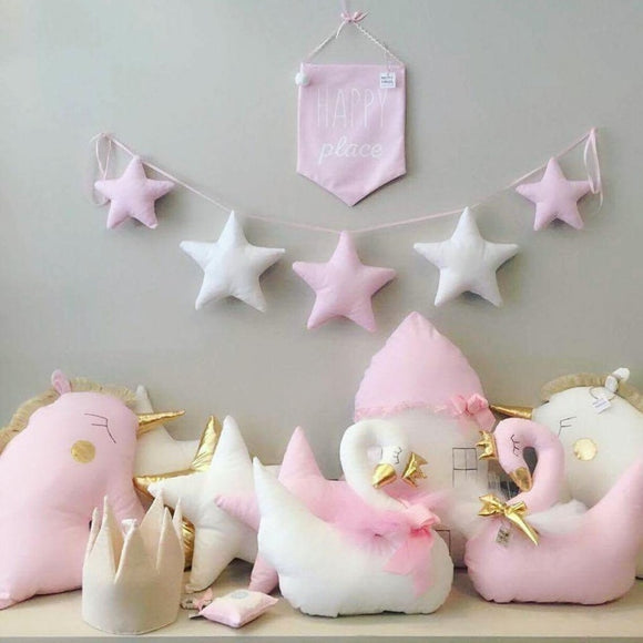 Nordic Baby Room Handmade Nursery Star Garlands - HeyHouse