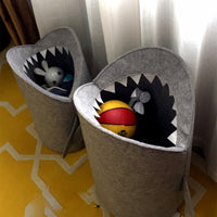 Nordic Style Felt Cloth Folding Laundry Basket Shark Design Laundry Bag for Toys Clothes Storage Bags Home Organizer Decor - HeyHouseCart