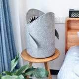 Nordic Style Felt Cloth Folding Laundry Basket Shark Design Laundry Bag for Toys Clothes Storage Bags Home Organizer Decor - HeyHouse