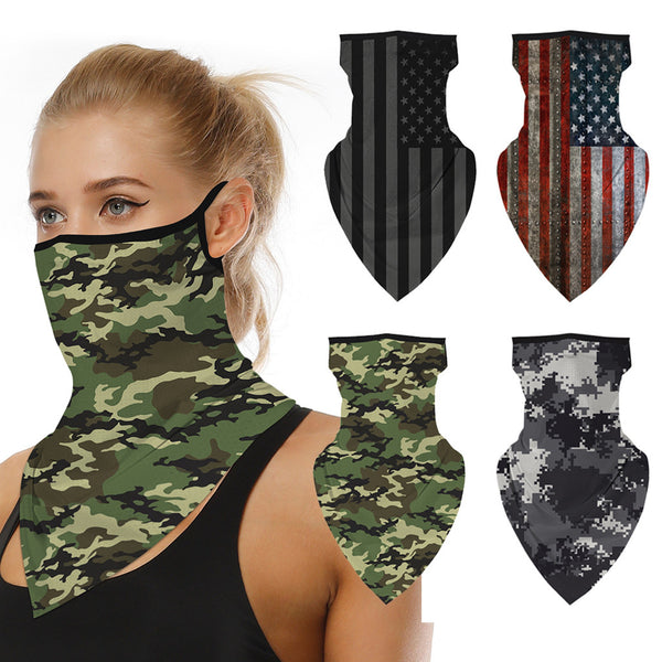 Outdoor Camouflage Print Seamless Ear Face Cover - HeyHouse