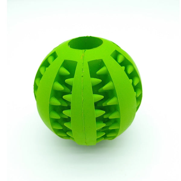 Pet Dog Toys Stretch Rubber Leaking Ball