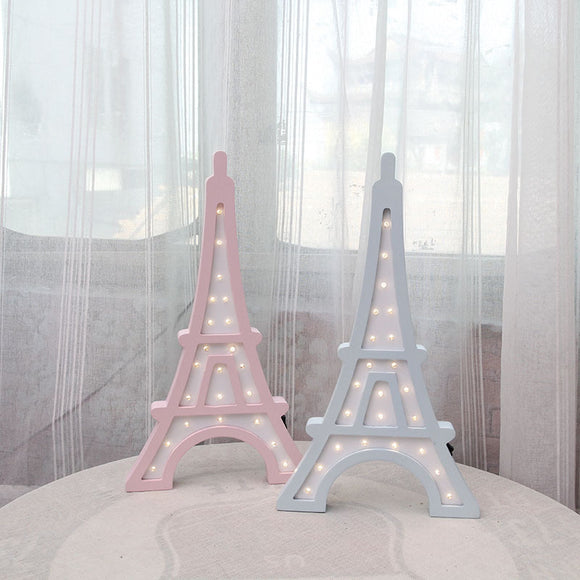Pink Blue Color Eiffel Tower Design Baby Night Light - HeyHouse