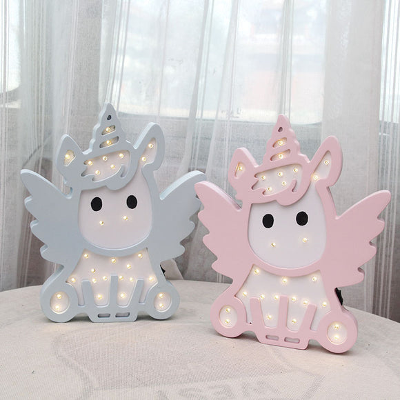 Pink Blue Color Unicorn Design Night Light For Baby boy and Baby Girl - HeyHouse