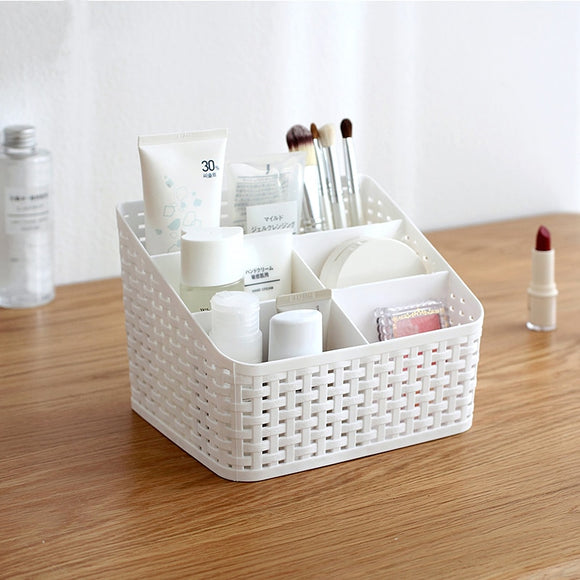 Plastic box makeup organizer desktop Office storage box cosmetic case remote control holder small objects/Skin Care Container - HeyHouse