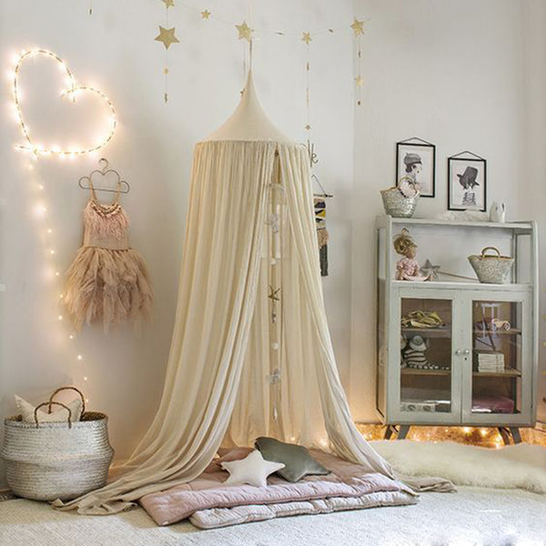 Canopy Bed Curtain Baby Hanging Tent  Round Hung Dome Mosquito Net - HeyHouse