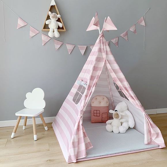 Pink and Blue Play Tent for Kids - HeyHouse