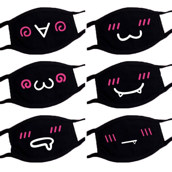 6 pcs Pop Cartoon Reusable Cotton Mouth Mask - HeyHouse